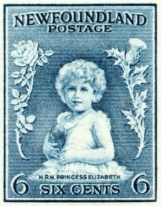 In Newfoundland the first recognition given to the future Queen occurred in 1933 with the young Princess Elizabeth appearing on a Newfoundland postage stamp. This was the first portrait of the Princess on any postage stamp.