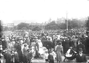 Photo Credit: The Rooms Provincial Archives: E 20-25; Crowds in Bannerman Park long before the Annual Folk Festival.