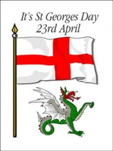 St. George's Feast Day is April 23 but the holiday is on Monday, April 22.