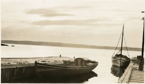 Photo Credit: The Rooms Provincial Archives:  Two fishing boats, Broad Cove, Conception Bay, A 10-31  Elsie Holloway, Holloway Studio, St. John's, N.L.