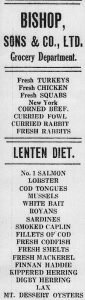 The Lenten Diet, The Evening Telegram