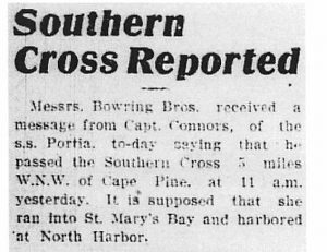 Southern Cross Reported