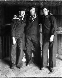 Photo Credit: The Rooms Provincial Archives. E 39-4; Three sailors from HMS Calypso