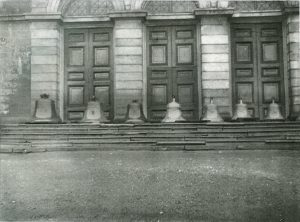 Basilica Bells on the steps of the Basilica Cathedral 1906.