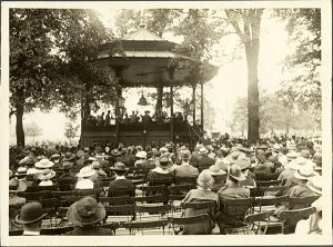 Photo Credit: A 103-2; Newfoundland Regiment Band performing in park during Newfoundland Week, London