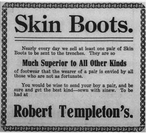 Advertisement: Evening Telegram, 1915