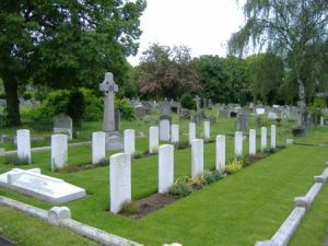 Wandsworth Cemetery, London is home to the graves of 18 Newfoundlanders.