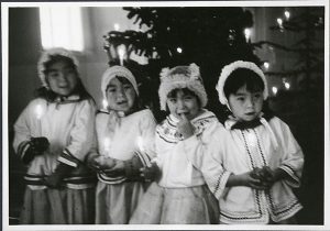 Photo Credit: The Rooms Provincial Archives: A 59-19; Four Inuit children during Christmas event, Nain.