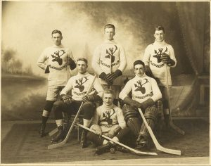 Photo Credit: The Rooms Provincial Archives: 1.26.01.074; Royal Newfoundland Regiment Hockey Team (Click on the photo to enlarge)