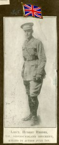 Ralph Herder loved hockey, he was seriously wounded July 1, 1916.